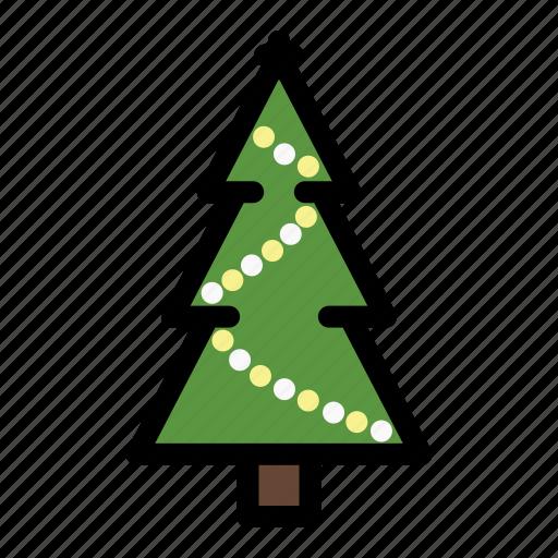 christmas, christmas tree, decoration, fir, pine, tree, xmas icon