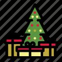 christmas, christmas tree, decoration, gifts, holiday, merry, xmas icon
