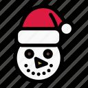 christmas, holiday, santa hat, snow, snowman, winter, xmas