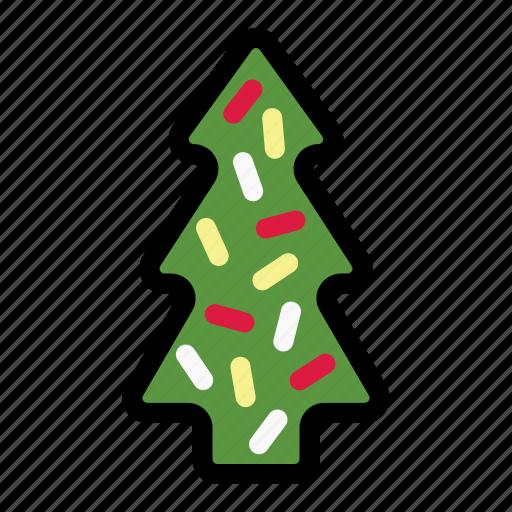 christmas, christmas cookie, cookie, holiday, sweet, tree, xmas icon