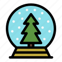 christmas, glass, holiday, merry, snowglobe, tree, xmas