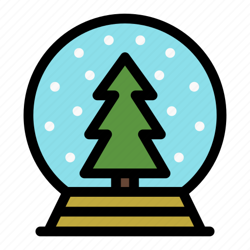 Christmas, glass, holiday, merry, snowglobe, tree, xmas icon - Download on Iconfinder