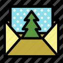 christmas, christmas card, envelope, holiday, mail, postcard, xmas