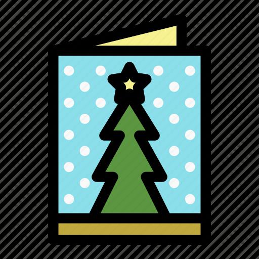 christmas, christmas card, holiday, mail, merry, postcard, xmas icon