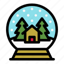 christmas, gift, glass, holiday, merry, snowglobe, xmas