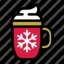 christmas, holiday, hot drink, merry, mug, winter, xmas