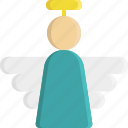 angel, christmas, decoration, ornament, religion, religious, wings icon