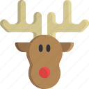 animal, antler, christmas, horn, reindeer, santa claus, sled icon