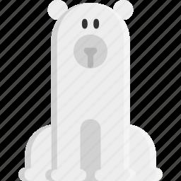 animal, bear, christmas, cold, polar, polar bear, winter icon