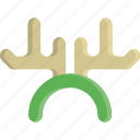 antler, christmas, decoration, ears, horn, ornament, reindeer icon