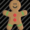 bakery, christmas, cookie, food, gingerbread, man, sweet