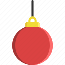 ball, bauble, christmas tree, decoration, ornament, string icon