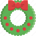 bauble, christmas, decoration, garland, ornament, ribbon, wreath icon