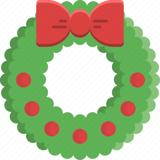 bauble, christmas, decoration, garland, ornament, ribbon, wreath icon