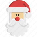 beard, christmas, claus, father christmas, gift, santa, santa claus icon