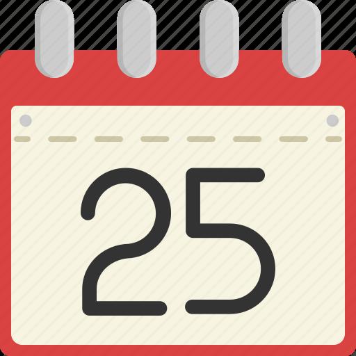 calendar, christmas, date, day, time, winter, xmas icon