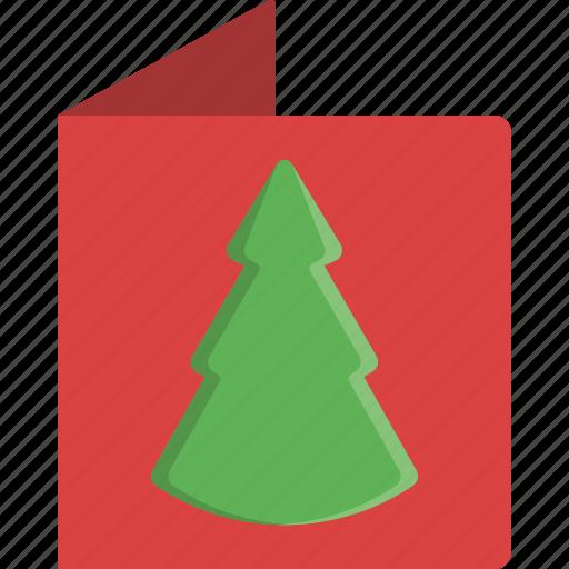 card, christmas, christmas tree, greeting, letter, tree, xmas icon