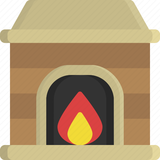 chimney, christmas, fireplace, house, socks, warm, winter icon
