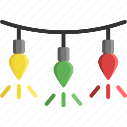 christmas, christmas tree, decoration, illumination, light, light bulb, lights icon
