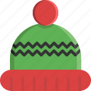 christmas, clothes, clothing, cold, hat, winter, wool icon