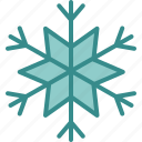 christmas, cold, geometric, ice, snow, snowflake, winter icon