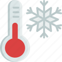 christmas, cold, snow, snowflake, temperature, thermometer, winter icon
