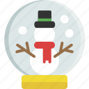 christmas, decoration, globe, ornament, snow, snowglobe, top hat icon