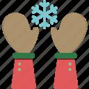 christmas, cold, glove, hand, snow, snowflake, winter
