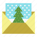 christmas, christmas card, envelope, holiday, mail, postcard, xmas icon