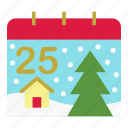 calendar, christmas, christmas day, holiday, merry, noel, xmas icon