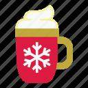 holiday, winter, christmas, mug, xmas, hot drink, snowflake
