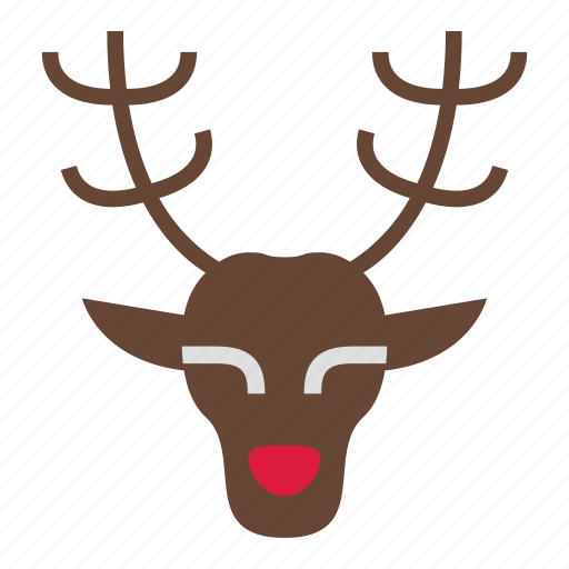 Christmas, deer, holiday, merry, reindeer, rudolph, xmas icon - Download on Iconfinder