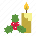 candle, christmas, christmas candle, decoration, holiday, mistletoe, xmas icon