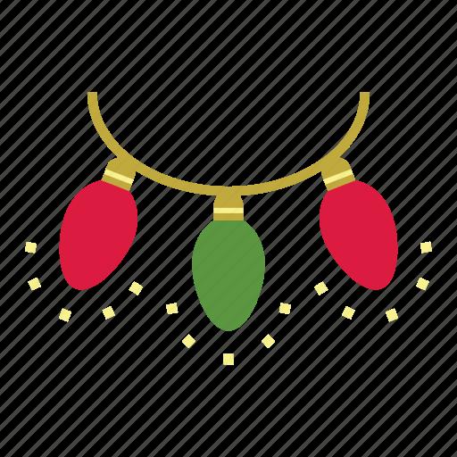 christmas, christmas lights, decoration, holiday, lights, xmas icon