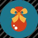 christmas, gift bag, present, sack icon