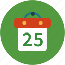 calendar, christmas, date, day icon