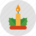 candle, christmas, decoration, light icon