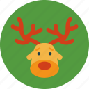 animal, christmas, deer, holiday icon