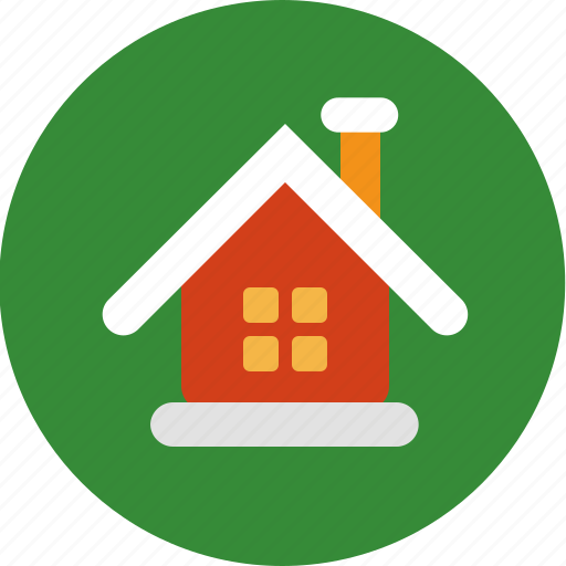 cabin, christmas, home, house icon