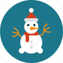 activity, christmas, snowman, winter icon