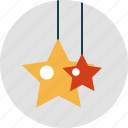 christmas, decorations, holiday, stars icon