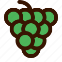 christmas, food, fruit, fruits, grapes, tropical icon