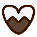 cookie, dessert, food, heart, sweet icon