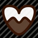 cookie, dessert, food, heart, sweet