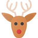 celebrate, christmass, deer, holidays, rudolf icon