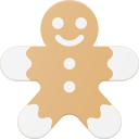 celebrate, christmass, cookie, gingerbread, holidays, man icon