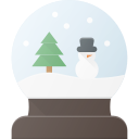 celebrate, christmass, holidays, snowbulb icon