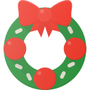 celebrate, christmass, holidays, wreath icon
