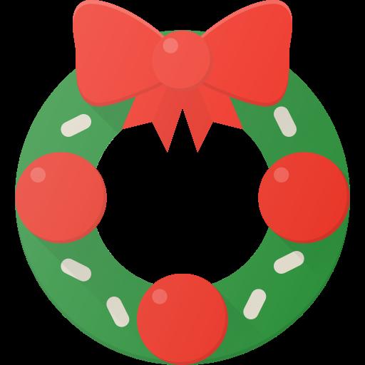 celebrate, christmass, holidays, wreath icon