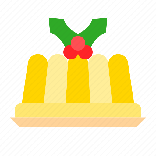 christmas, food, gastronomy, jelly, pudding icon